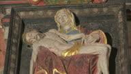 MS Shot of altar in church / Saarburg-Beurig, Rhineland Palatinate, Germany