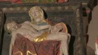 MS PAN Shot of altar in church / Saarburg-Beurig, Rhineland Palatinate, Germany