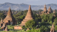WS Shot of Ancient temples at Pagodas field / Bagan, Mandalay Division, Myanmar