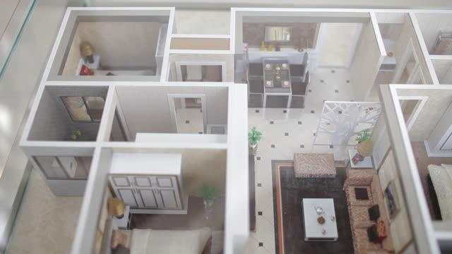 CU PAN Shot of Apartment models in real estate sales center / Xi'an, shaanxi, China