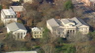 MS AERIAL Shot of Athens buildings / Georgia, United States