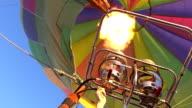MS LA Shot of Balloon engines firing / Coolgardie and Kalgoorlie, Western Australia, Australia