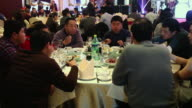 MS Shot of Banquet of annual meeting / Xian, China