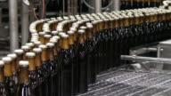 MS Shot of beer production at brewery, Bitburger Pils / Bitburg, Rhinland Palatinate, Germany