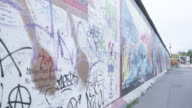 MS Shot of Berlin Wall / Berlin, Germany