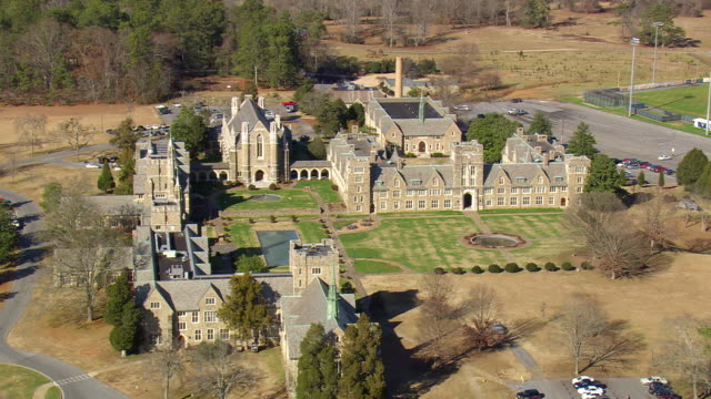 Perry (GA) United States  City new picture : Ms Aerial Tu Shot Of Berry College Campus Georgia United States Stock ...