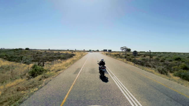 POV shot of biker coming to a STOP along road/ Western Cape/ South Africa