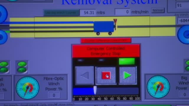 ECU Shot of Blueprints on monitor / Coolgardie and Kalgoorlie, Western Australia, Australia