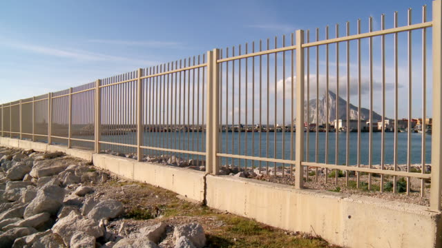MS Shot of Border between Spain and Gibraltar / La linea de la Conception, Andalusia, Spain