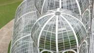 CU AERIAL Shot of Botanical Gardens / Parana, Brazil
