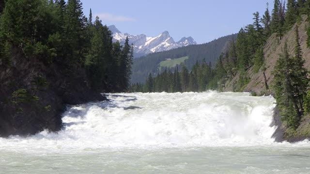 MS Shot of Bow River Falls near Banff / Banff Nationalpark, Alberta, Canada