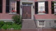 MS Shot of brick apartment building
