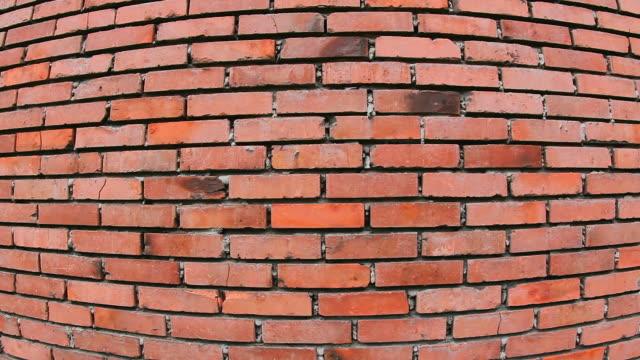 MS Shot of Bricks wall of Musee Les Mineurs Wendel / Petite Rosselle, Lorraine, France