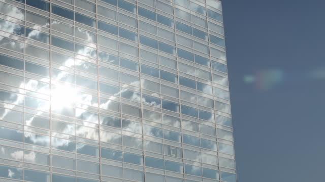 MS T/L Shot of Building and cloud / Shinagawa, Tokyo, Japan
