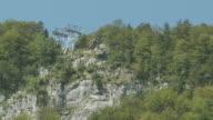 MS Shot of Cable car in mountains / Weissbad, Appenzell Innerhoden, Switzerland