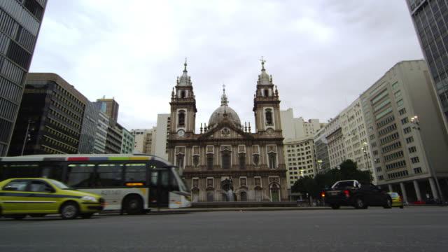 Shot of Candelaria Church in Rio de Janeiro, Brazil