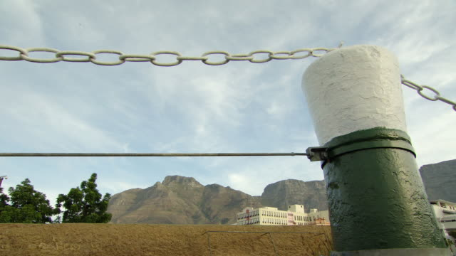 MS Shot of Cape Town Mountains / Cape Town, South Africa