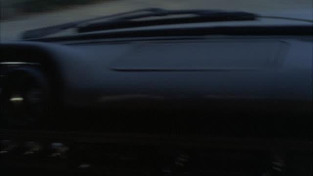 MS POV Shot of car crashing