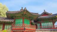 MS T/L POV TS Shot of Changdeokgung (UNESCO World Heritage List in 1999) / Seoul, South Korea