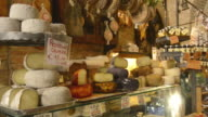 MS TD Shot of Cheese and ham in tuscany delicatessen store / Montepulciano, Tuscany, Italy