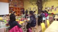 MS Shot of Children take class in kindergarden / Seoul, Seoul, South Korea