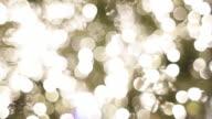 CU RF PAN Shot of Christmas tree lights / Berlin, Germany