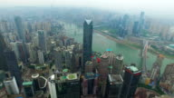 WS AERIAL shot of cityscape/ Chongqing,China