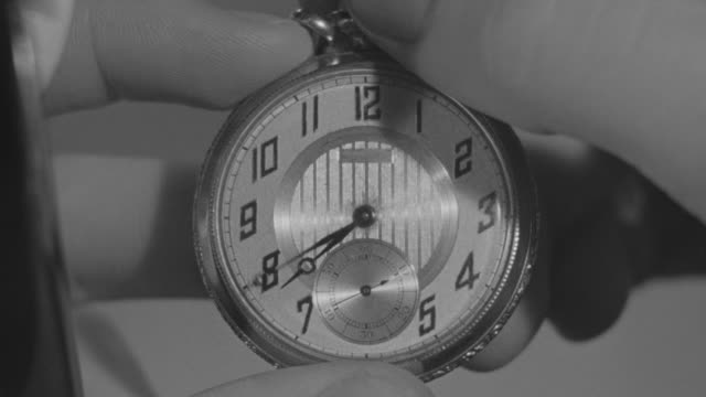 CU Shot of clock in hand