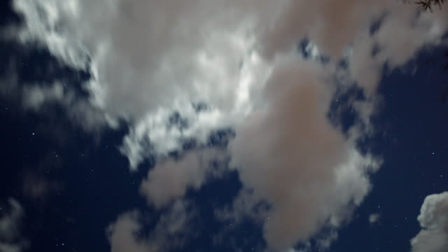MS T/L Shot of clouds moving through star filled sky / Tucson, Arizona, United States