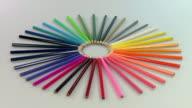 MS Shot of Color pencils / Saarburg, Rhineland Palatinate, Germany