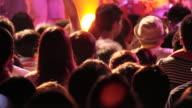 MS PAN Shot of concert crowd / Ebisu, Tokyo, Japan