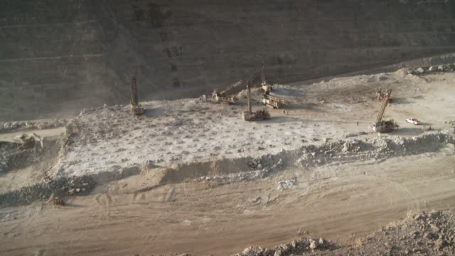 MS Shot of construction site on opencast / Namibia
