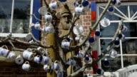 MS Shot of Cups on Tree at Pottery shop  / Middelhagen, Rugen/Mecklenburg, Germany