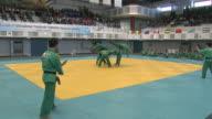 MS ZI Shot of demonstration of Yongmoodo korean traditional martial arts / Seoul, Seoul, South Korea