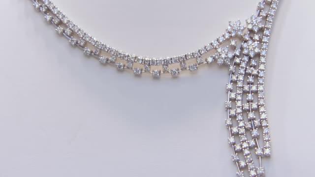 ECU TD R/F Shot of Diamond necklace and rings / Philadelphia, Pennsylvania, United States