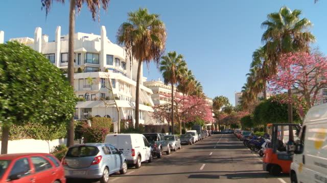 MS POV Shot of downtown Marbella / Marbella, Malaga, Spain