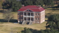 MS AERIAL Shot of Drayton Hall Plantation / South Carolina, United States