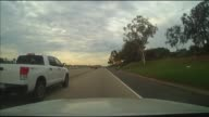 POV Shot of Driving in San Diego on December 19 2013 in San Diego California