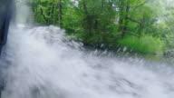 CU POV Shot of Driving through Copperhill Tennessee hills and woods / Copperhill, Tennessee, United States