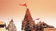 MS Shot of Dwarkadhish Temple at Dwarka / Jamnagar, Gujarat, India