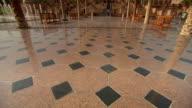 MS TU Shot of Emirates Palace with palm trees / Abu Dhabi, United Arab Emirates