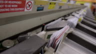 ECU Shot of Envelope conveyor / Clovelly, New South Wales, Australia