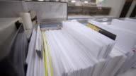 ECU Shot of Envelope sorter / Clovelly, New South Wales, Australia