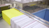 CU Shot of Envelope sorter machine / Clovelly, New South Wales, Australia