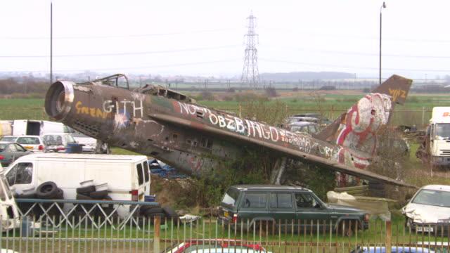 MS Shot of Ex Military base of Hungarian(Hungary) / Nottingham, United Kingdom