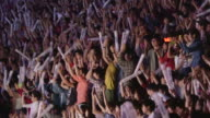 Shot of exciting large group of people at the concert