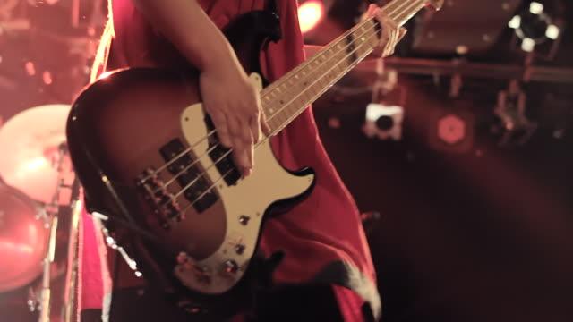CU Shot of Female Bass guitarist / Shimokitazawa, Tokyo, Japan