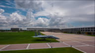 Shot of fighter plane at United States Air Force Academy