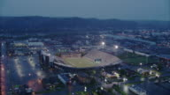 AERIAL POV ZI  Shot of football stadium / Unspecified