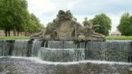 MS Shot of fountain in park of Ludwigslust Castle / Ludwigslust, Mecklenburg Vorpommern, Germany
